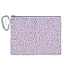 Maze Lost Confusing Puzzle Canvas Cosmetic Bag (xl)
