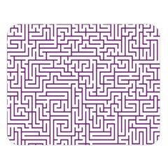 Maze Lost Confusing Puzzle Double Sided Flano Blanket (large)