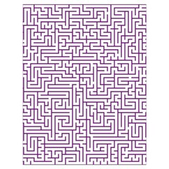 Maze Lost Confusing Puzzle Drawstring Bag (large)