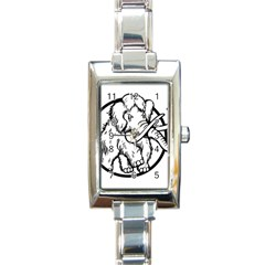 Mammoth Elephant Strong Rectangle Italian Charm Watch