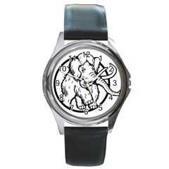 Mammoth Elephant Strong Round Metal Watch