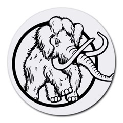 Mammoth Elephant Strong Round Mousepads