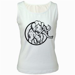 Mammoth Elephant Strong Women s White Tank Top