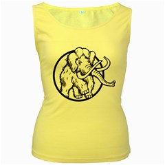 Mammoth Elephant Strong Women s Yellow Tank Top