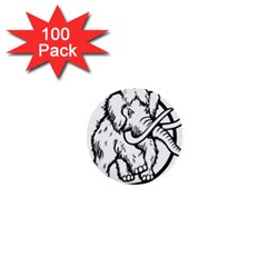 Mammoth Elephant Strong 1  Mini Buttons (100 pack)