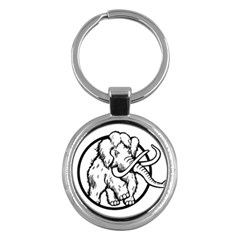 Mammoth Elephant Strong Key Chains (round)