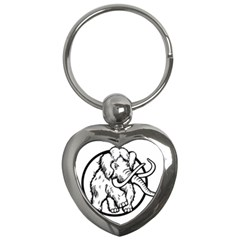 Mammoth Elephant Strong Key Chains (heart)