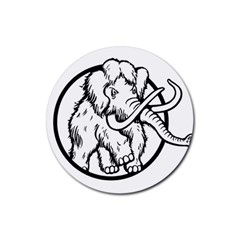 Mammoth Elephant Strong Rubber Round Coaster (4 pack)