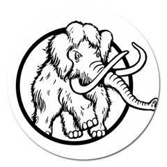 Mammoth Elephant Strong Magnet 5  (round)