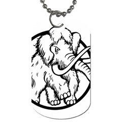 Mammoth Elephant Strong Dog Tag (one Side)