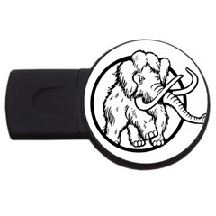 Mammoth Elephant Strong Usb Flash Drive Round (2 Gb)