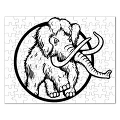 Mammoth Elephant Strong Rectangular Jigsaw Puzzl