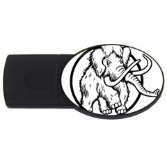 Mammoth Elephant Strong Usb Flash Drive Oval (4 Gb)