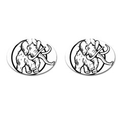 Mammoth Elephant Strong Cufflinks (oval)