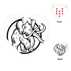 Mammoth Elephant Strong Playing Cards (heart)