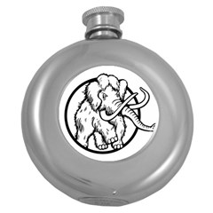 Mammoth Elephant Strong Round Hip Flask (5 Oz)
