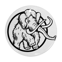 Mammoth Elephant Strong Round Ornament (two Sides)
