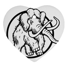 Mammoth Elephant Strong Heart Ornament (2 Sides)