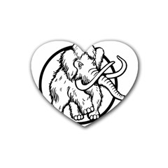 Mammoth Elephant Strong Heart Coaster (4 Pack)