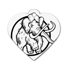 Mammoth Elephant Strong Dog Tag Heart (two Sides)