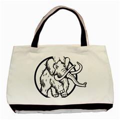 Mammoth Elephant Strong Basic Tote Bag (two Sides)