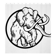 Mammoth Elephant Strong Shower Curtain 66  x 72  (Large)