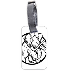 Mammoth Elephant Strong Luggage Tags (one Side)