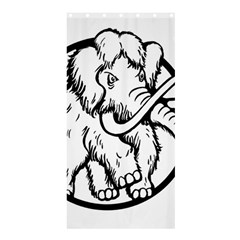 Mammoth Elephant Strong Shower Curtain 36  X 72  (stall)