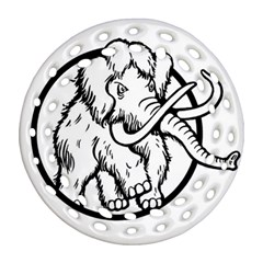 Mammoth Elephant Strong Round Filigree Ornament (2side)