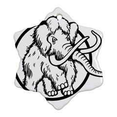 Mammoth Elephant Strong Snowflake Ornament (2 Side)