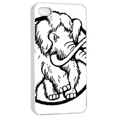 Mammoth Elephant Strong Apple Iphone 4/4s Seamless Case (white)
