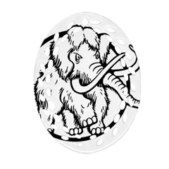 Mammoth Elephant Strong Ornament (oval Filigree)