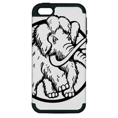 Mammoth Elephant Strong Apple Iphone 5 Hardshell Case (pc+silicone)