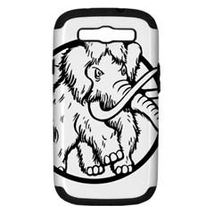 Mammoth Elephant Strong Samsung Galaxy S Iii Hardshell Case (pc+silicone)