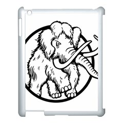 Mammoth Elephant Strong Apple Ipad 3/4 Case (white)