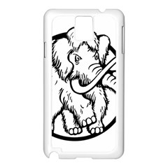 Mammoth Elephant Strong Samsung Galaxy Note 3 N9005 Case (White)