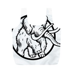Mammoth Elephant Strong Full Print Recycle Bags (m)
