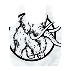 Mammoth Elephant Strong Full Print Recycle Bags (l)