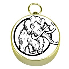 Mammoth Elephant Strong Gold Compasses