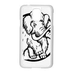 Mammoth Elephant Strong Samsung Galaxy S5 Case (white)
