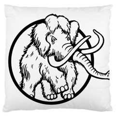 Mammoth Elephant Strong Standard Flano Cushion Case (two Sides)