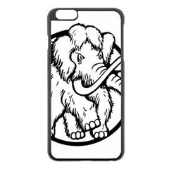 Mammoth Elephant Strong Apple Iphone 6 Plus/6s Plus Black Enamel Case