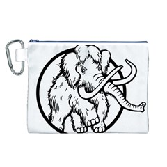 Mammoth Elephant Strong Canvas Cosmetic Bag (l)