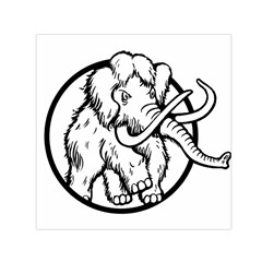 Mammoth Elephant Strong Small Satin Scarf (square)
