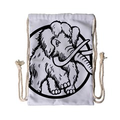 Mammoth Elephant Strong Drawstring Bag (small)