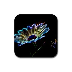 Flower Pattern Design Abstract Background Rubber Square Coaster (4 pack)