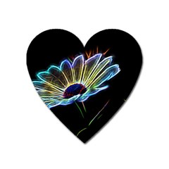 Flower Pattern Design Abstract Background Heart Magnet