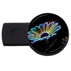 Flower Pattern Design Abstract Background Usb Flash Drive Round (2 Gb)