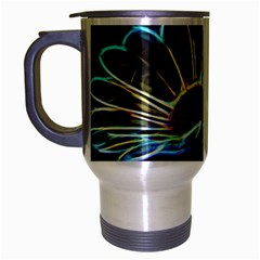 Flower Pattern Design Abstract Background Travel Mug (silver Gray)