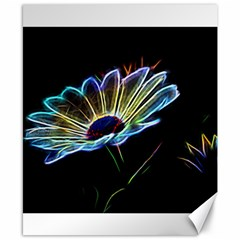 Flower Pattern Design Abstract Background Canvas 8  X 10